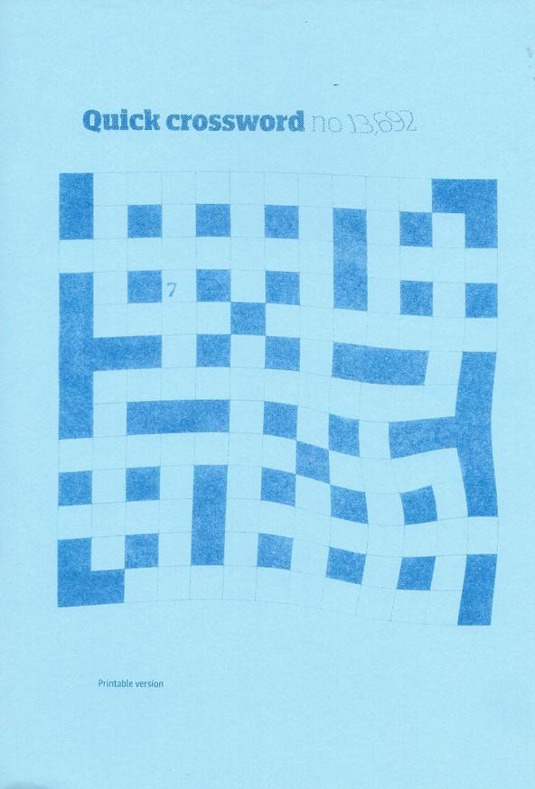 Quick Crossword n. 13.692