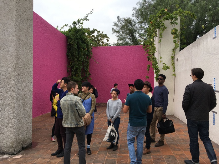 Hilary Sample Housing Studio visiting Luis Barragan house in Mexico City