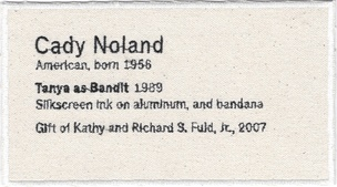 Permanent Collection Canvas Patch: Cady Noland