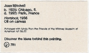 Permanent Collection Canvas Patch: Joan Mitchell