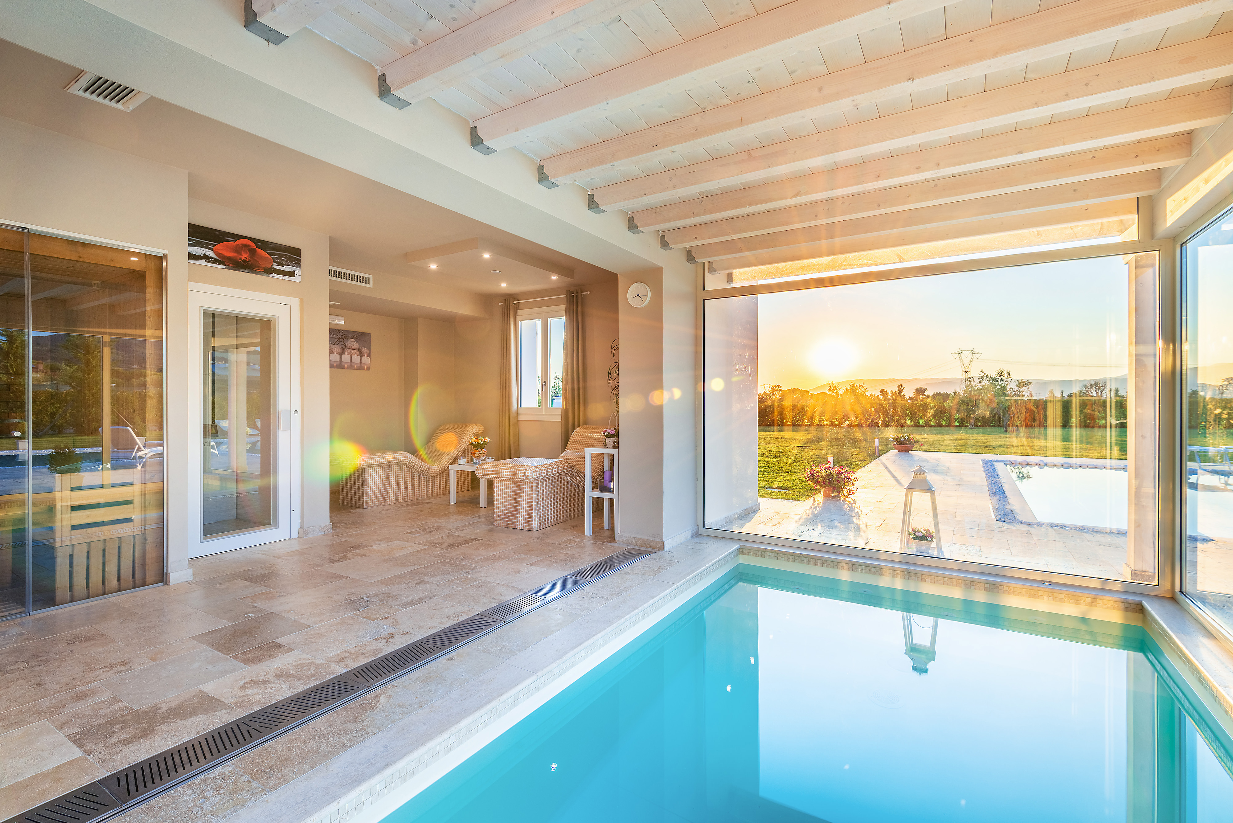 Tuscany villa with spa