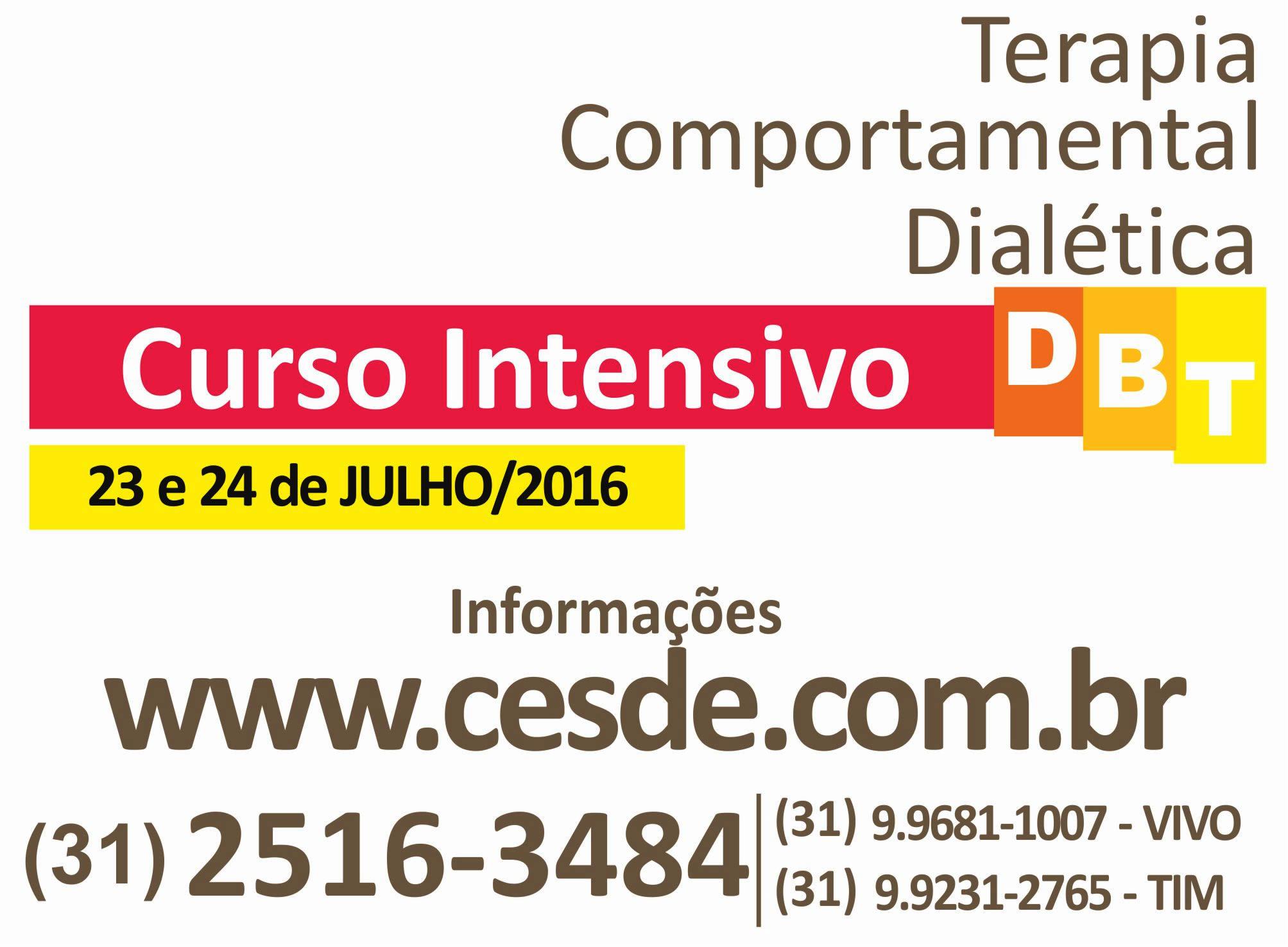 Treinamento intensivo em DBT - Terapia Comportamental Dialética
