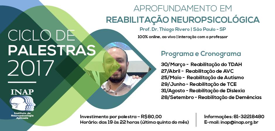 Ciclo de Palestras em Reabilitação Neuropsicológica
