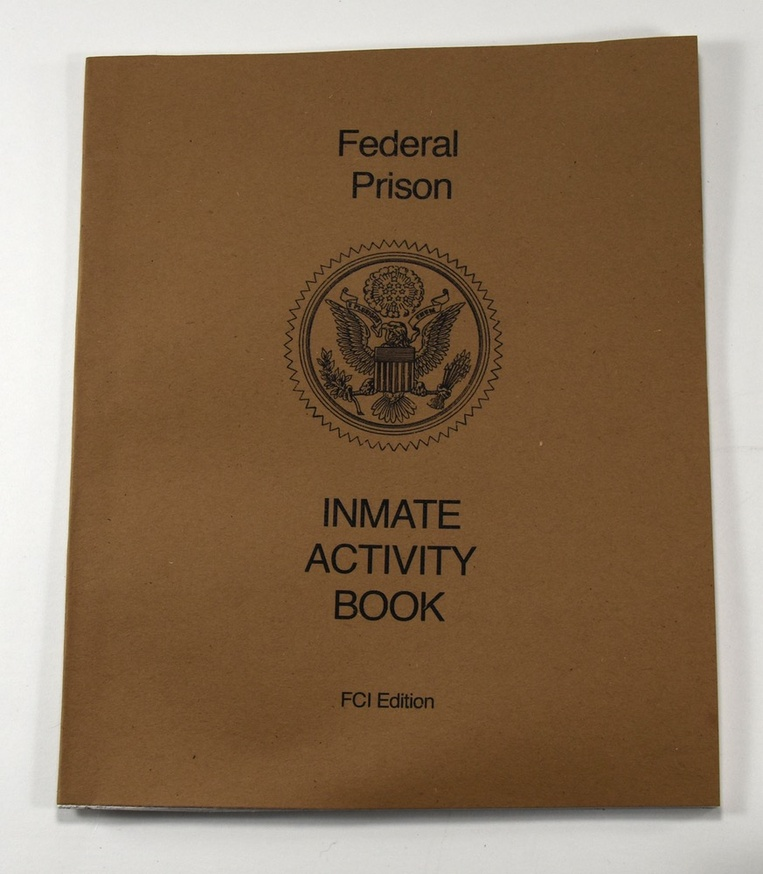 Federal Prison Inmate Activity Book thumbnail 1