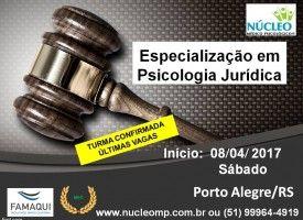 Especialização em Psicologia Jurídica - Ênfase em Perícia Psicológica - Núcleo Médico Psicológico