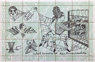 rival (in weaving) of Minerva Artistamps