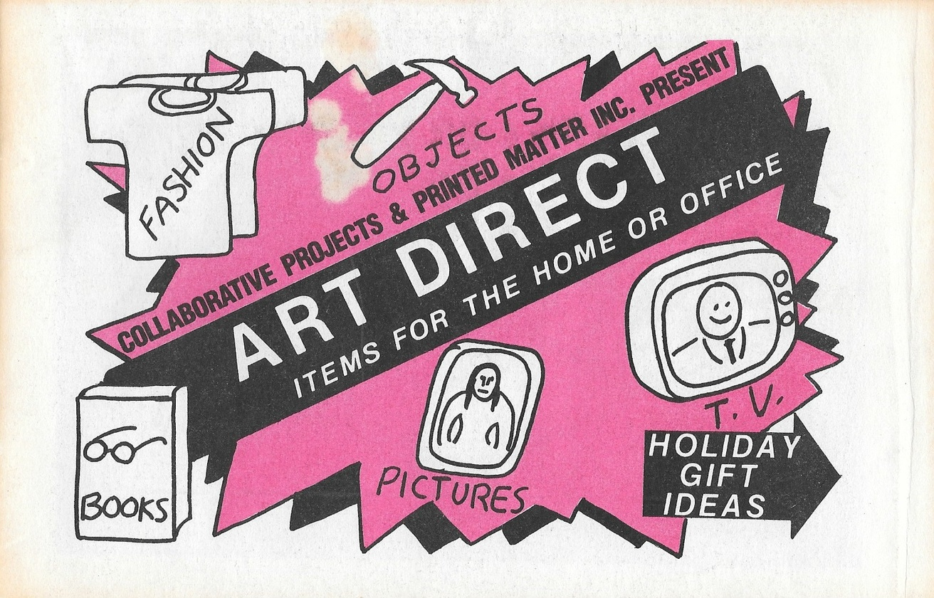 Printed Matter And Collaborative Projects Art Direct Items For