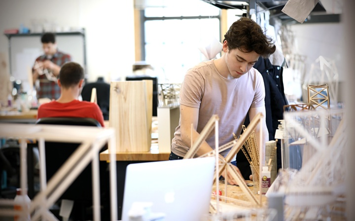 Undergraduate student studio spaces