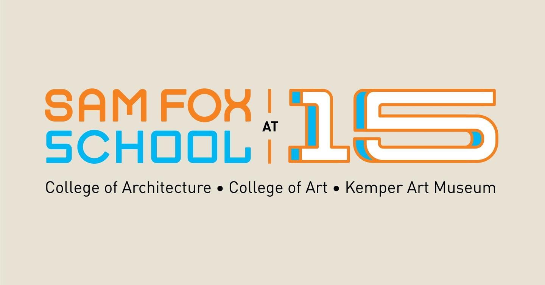 Sam Fox School at 15 logotype