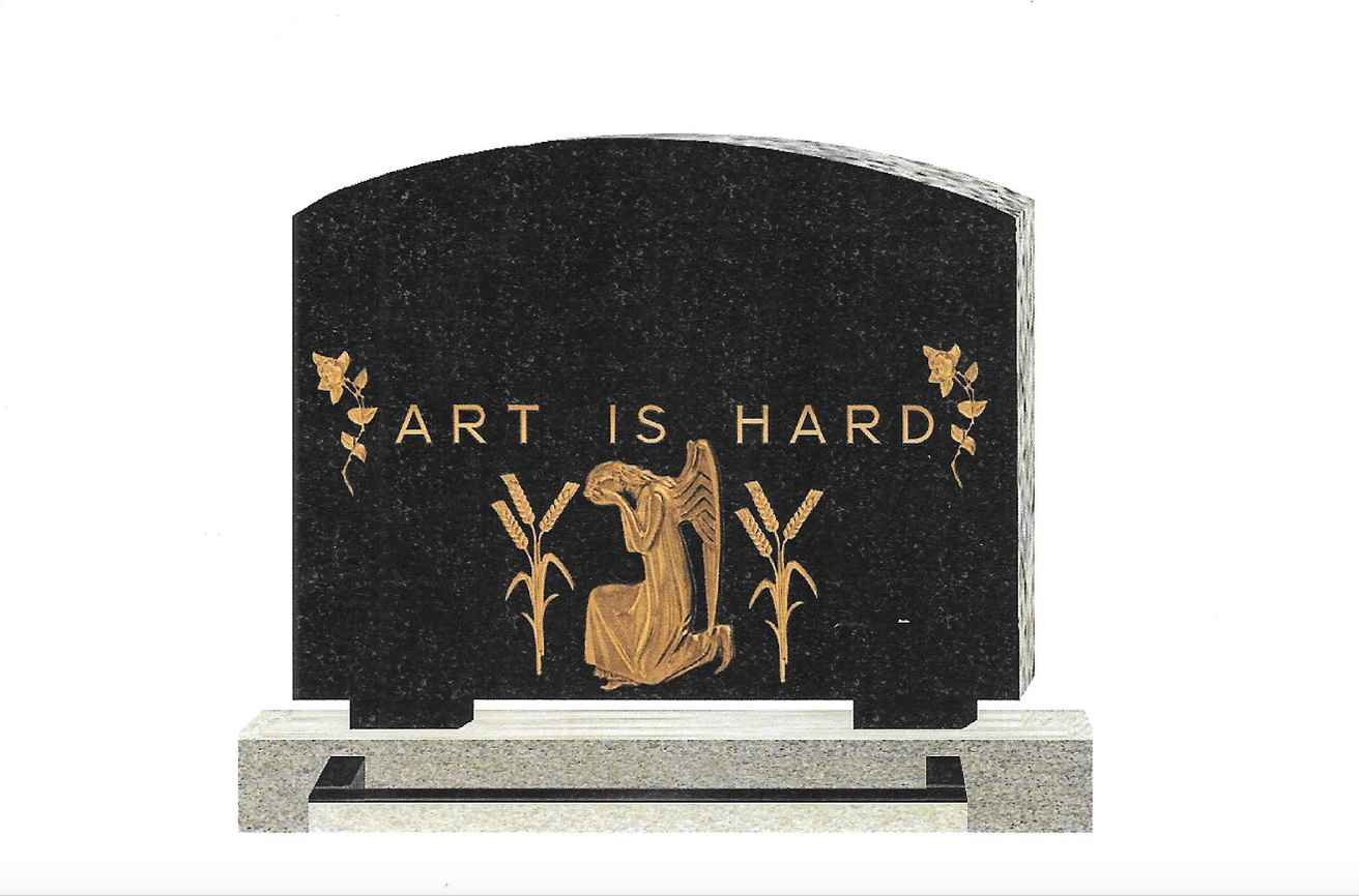 Art Is Hard Postcard