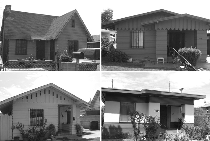FIG. 10: Houses constructed for Goodyear Gardens, South Los Angeles. Image courtesy of Los Angeles City Planning.
