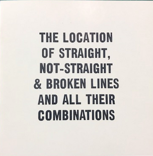 The Location of Straight, Non-Straight and Broken Lines and All Their Combinations