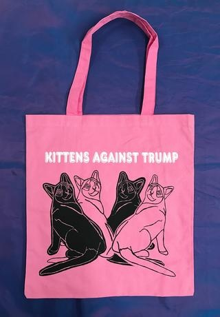 KITTENS AGAINST TRUMP Tote thumbnail 1