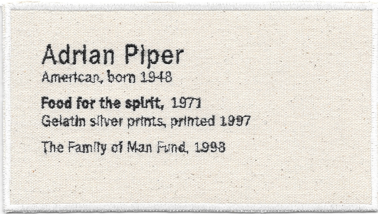 Permanent Collection Canvas Patch: Adrian Piper