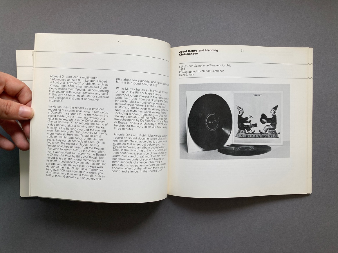 The Record as Artwork from Futurism to Conceptual Art: The Collection of Germano Celant thumbnail 6