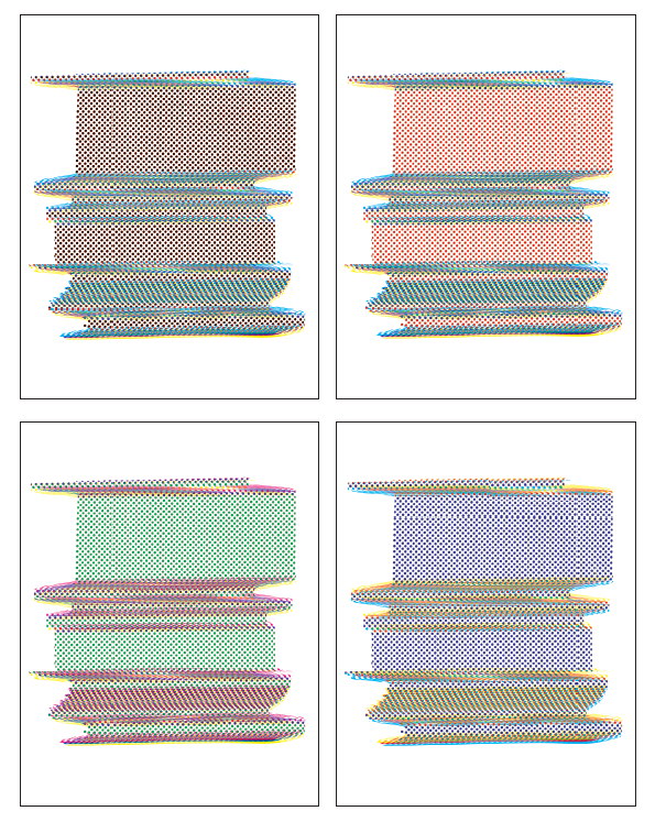 CMYK Print Test Panel (Darkroom Manuals), 2014 - Set of Four