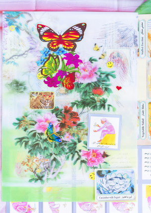 Flower Lenticular (Language and Prayer Stickers), 2020
