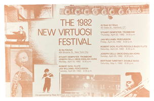 New Virtuosi Festival, April 19 & 20, 1982  [The Kitchen Posters]
