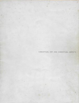 Conceptual Art and Conceptual Aspects
