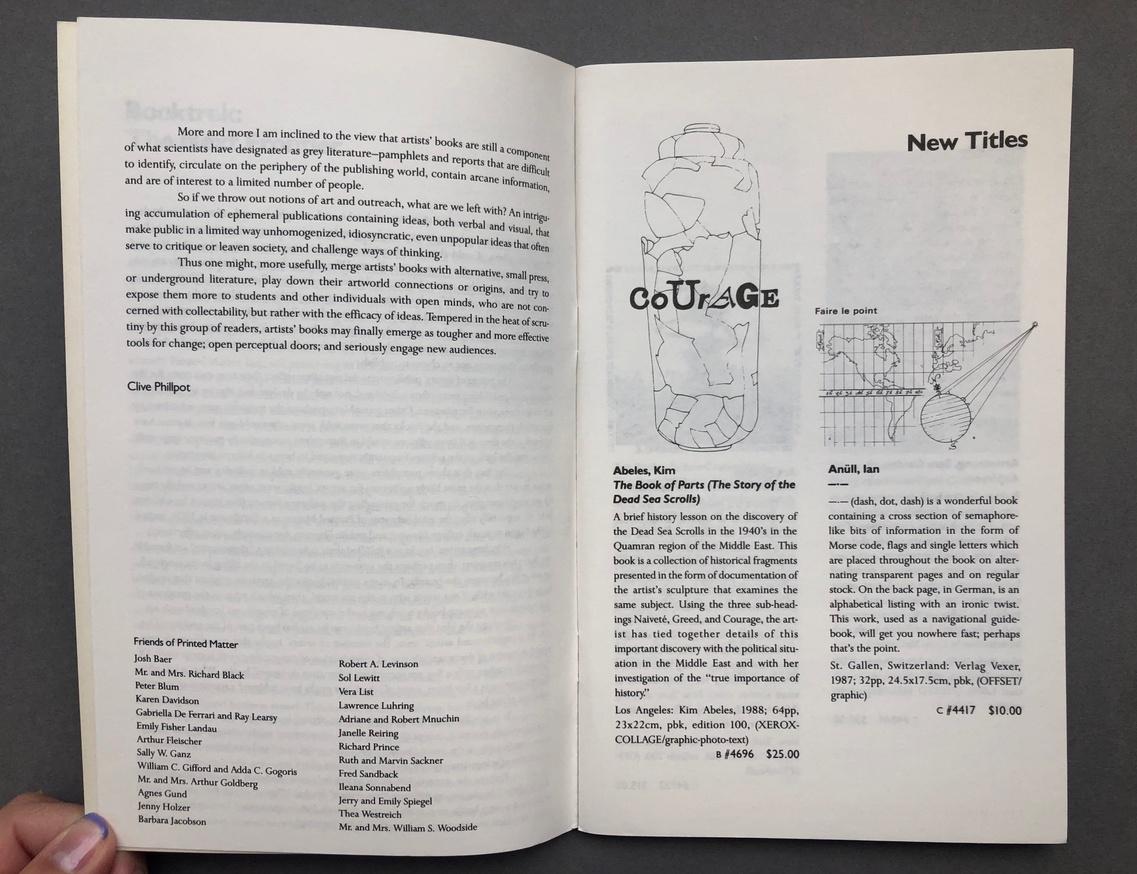 Printed Matter 1990 Spring Catalog thumbnail 4