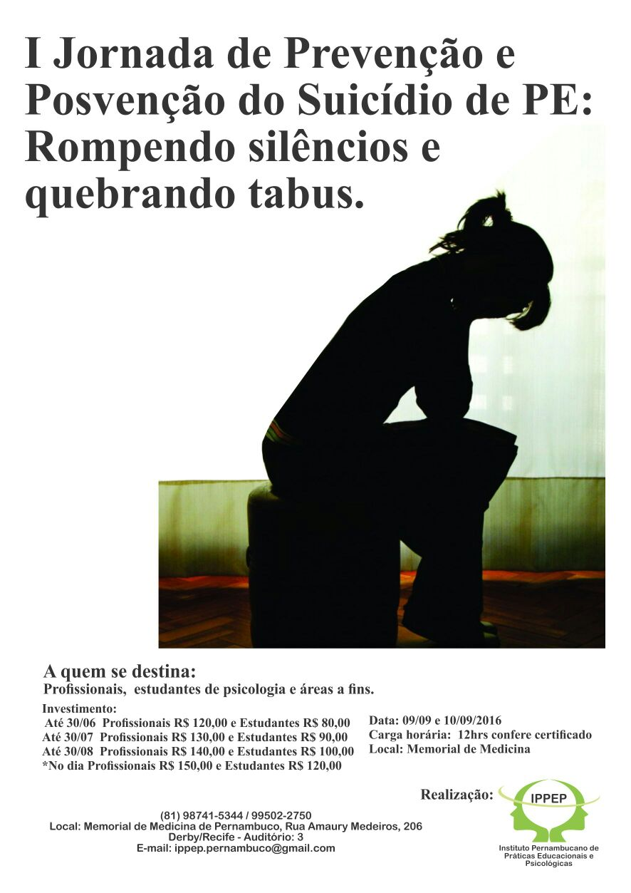 I Jornada de Prevenção e Posvenção do Suicïdio de Pernambuco