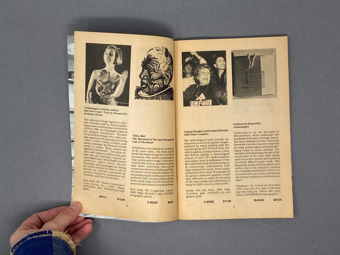 Printed Matter Bookstore at Dia Spring 1991 Catalog thumbnail 2