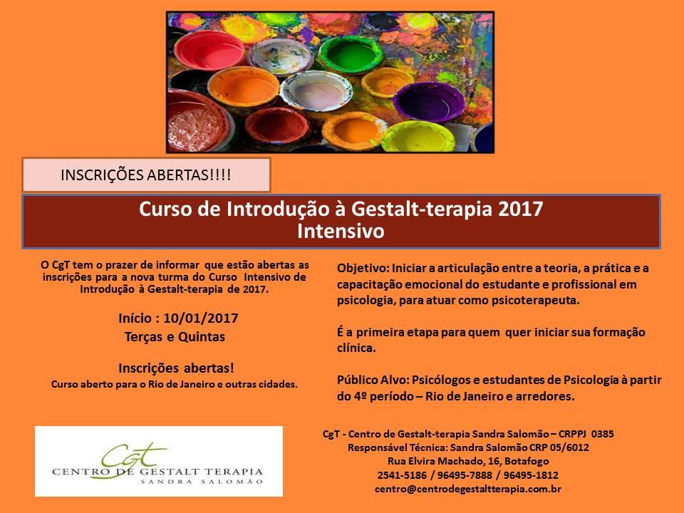 Curso de Introdução à Gestalt-terapia 2017 - Intensivo