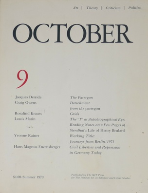 OCTOBER : Art / Theory / Criticism / Politics