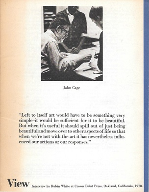 View: John Cage