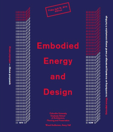 Embodied Energy And Design - Columbia GSAPP