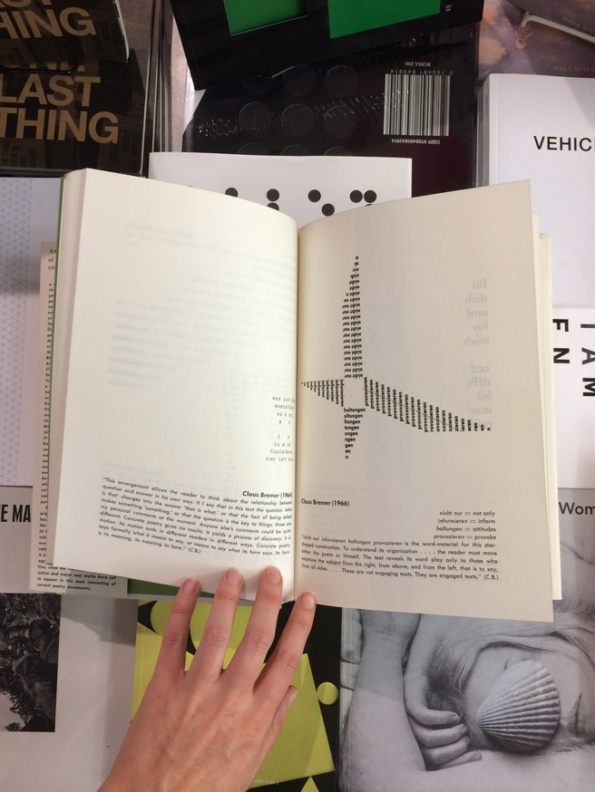 An Anthology of Concrete Poetry [first edition, hardback] thumbnail 2