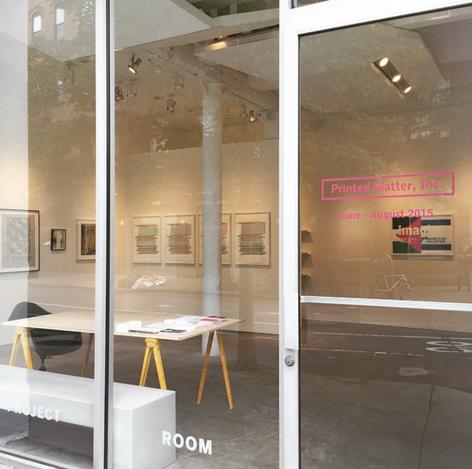 Printed Matter at Carolina Nitsch Project Room