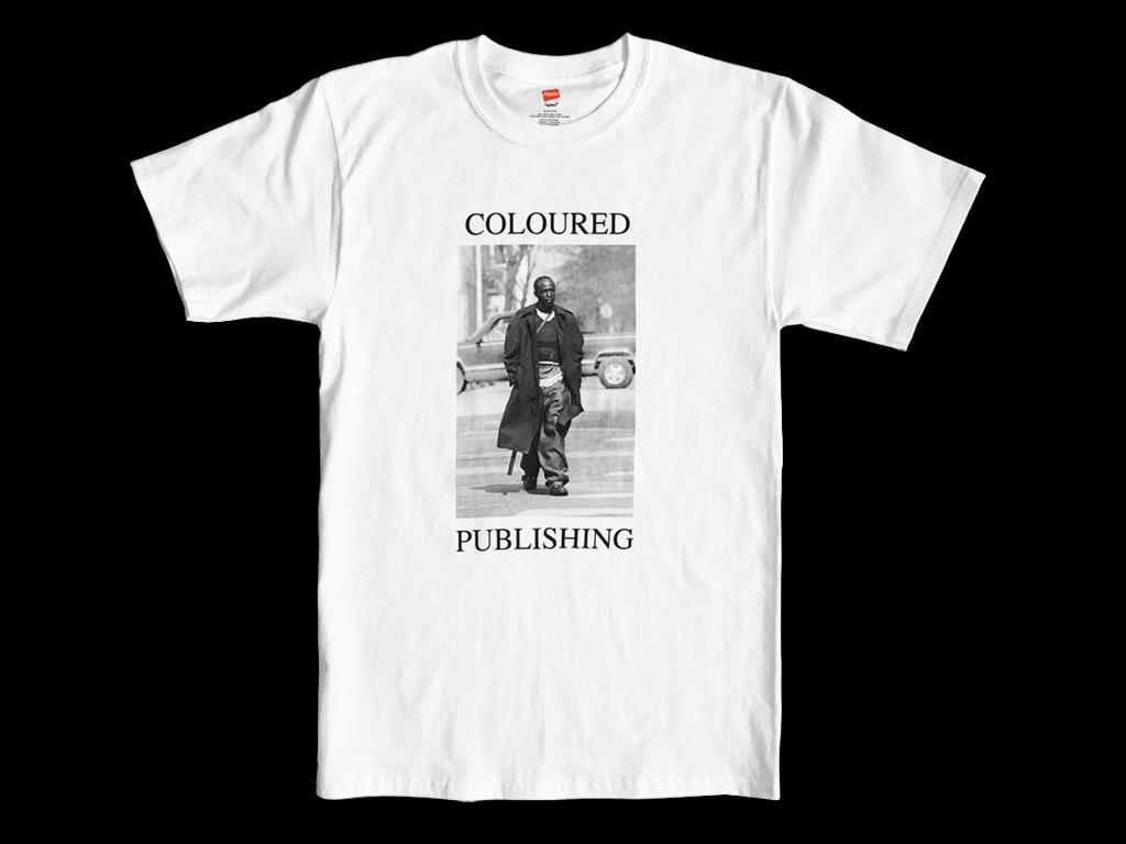 """Coloured Publishing Icon """"OMAR"""" T-shirt [Large]"""