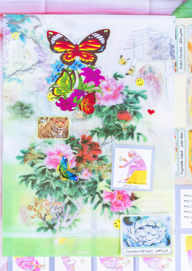 Flower Lenticular (Language and Prayer Stickers), 2020