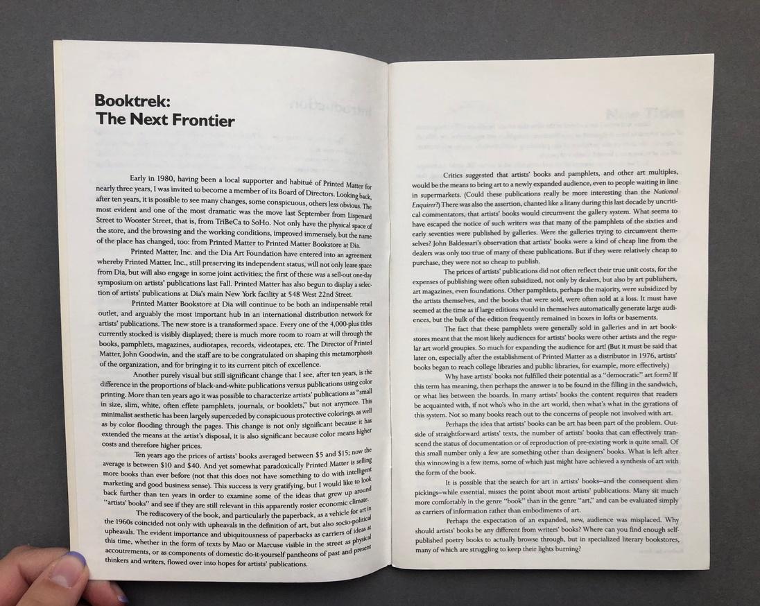 Printed Matter 1990 Spring Catalog thumbnail 3