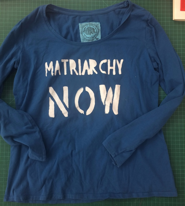 55c24ce6 Matriarchy Now Scoop Neck Long Sleeve Shirt in Blue [Large] Sofi Thanhauser  Apparel / T-shirts $30.00