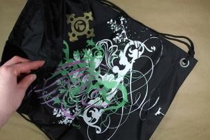 Unique Silkscreen Nylon Sports Bag