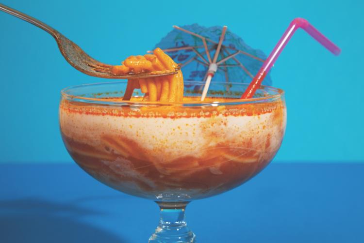 Spaghetti Cocktail Postcard