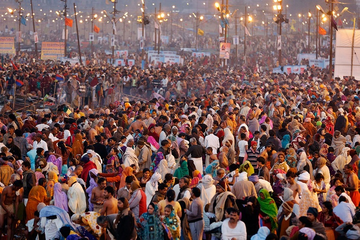 Mass gathering during festivals in temples