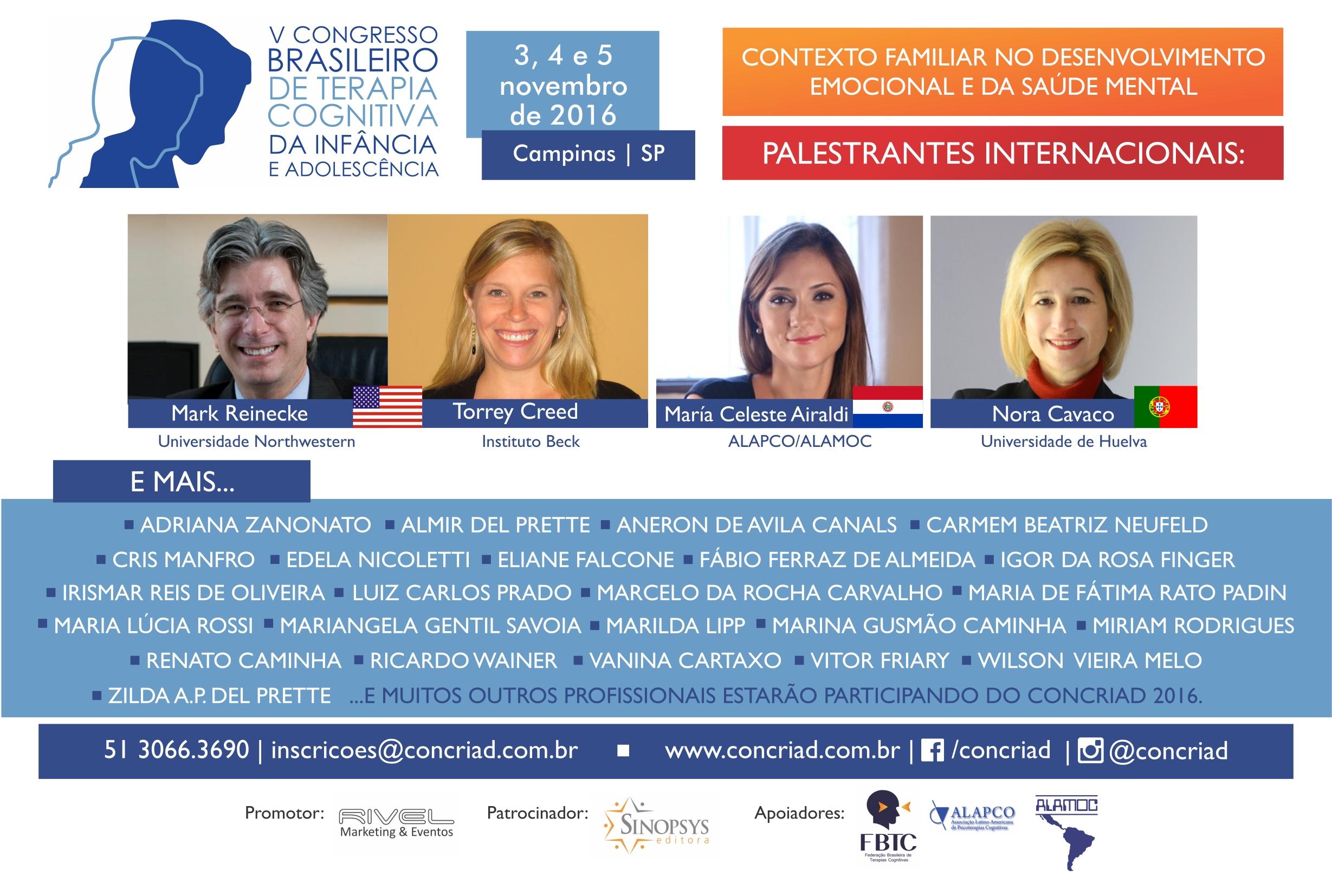 CONCRIAD 2016 - V Congresso Brasileiro de Terapia Cognitiva da Infância e Adolescência