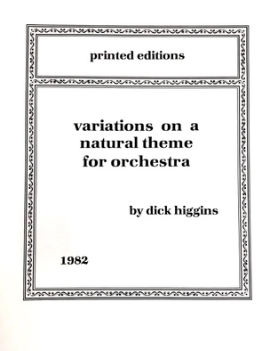Variations on a Natural Theme for Orchestra