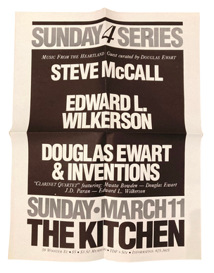 Music From the Heartland, March 11, 1984 [The Kitchen Posters]