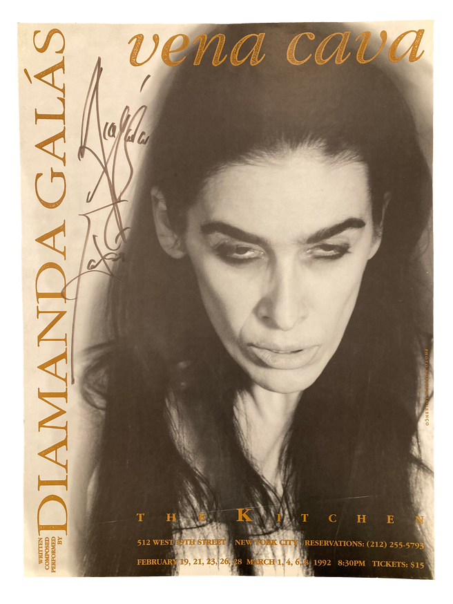 Vena Cava, February 19- March 8, 1992 (Signed) [The Kitchen Posters]