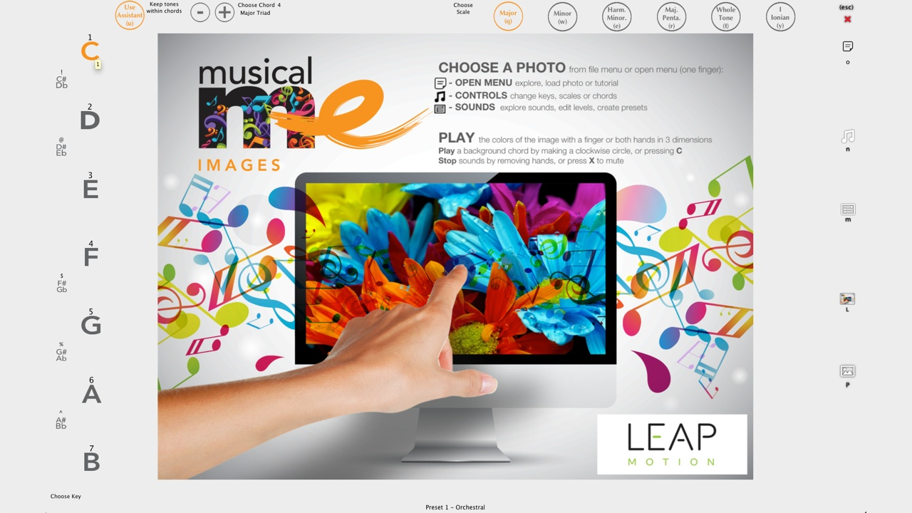 MusicalMeApps for Leap Motion