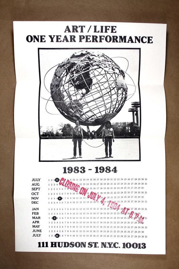 Art/Life One Year Performance Poster [Globe]