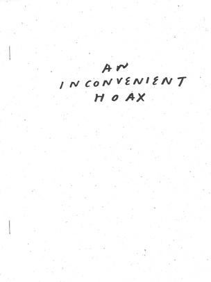 An Inconvenient Hoax