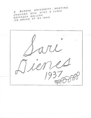 A Buddha University Meeting (Sari Dienes) [Mail Art]