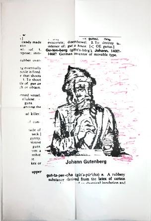 Talk Is Cheap Johann Gutenberg Poster