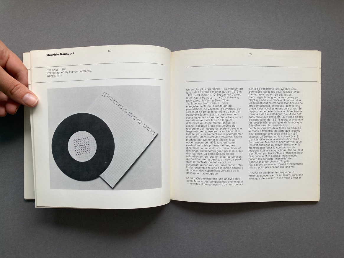 The Record as Artwork from Futurism to Conceptual Art: The Collection of Germano Celant thumbnail 4