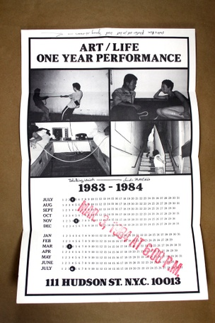Art/Life One Year Performance Poster [Four Photos]